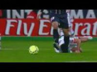 Brutalny faul Zlatana Ibrahimovica