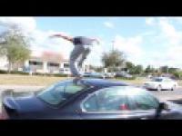 Carkour - parkour nad, pod i przez samochody