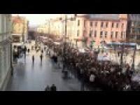 Przemarsz mniejszości polskiej w Wilnie w obronie swych praw