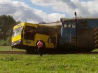Zderzenie pociągu z autobusem w Sosnowcu