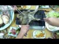 Ośmiornica z grilla na żywca w Japonii