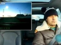 Reakcja pewnego Rosjanina na lecący meteoryt
