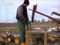 Ukraiński rębak do drewna własnej konstrukcji