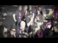 Piłkarze Barsy troche przesadzili z świętowniem