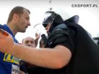 Działania kieleckiej policji wobec kibiców Korony