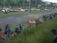 Wypadek podczas pokazów Gran Turismo Polonia [+18]