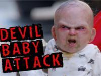 Zdalnie sterowane dziecko diabła na ulicy