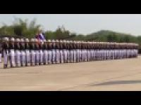 Pokaz musztry tailandzkich żołnierzy