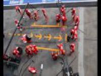 perfekcyjny pit stop ferrari F1