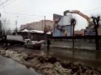 Rozbiórka domu w rosyjskim stylu