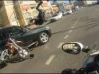 Wypadek motocyklisty w Rosji