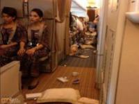 Samolot po turbulencjach