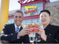 Barack Obama i Kim Jong-Un spędzają razem czas