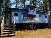Stara lokomotywa przerobiona na dom