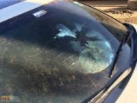 Samochód uderzony przez piorun