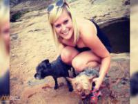 Dziewczyna zaadoptowała psa chorego na raka