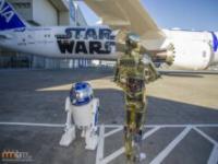 Samolot reklamujący Gwiezdne Wojny