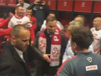 Prezydent Andrzej Duda w szatni po meczu Polsdka - Irlandia. Wielka radość!
