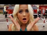 Miss suwalszczyzny rozgrzewa strażaków