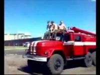 Strażacy w Rosji.