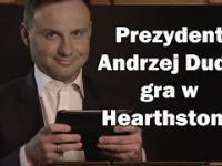 Prezydent Andrzej Duda gra w karty