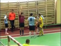 Nokaut na meczu w Rosji