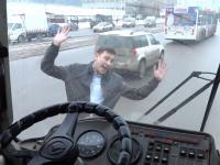 Niewystarczające kierowca zatrzymał autobus