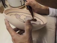 Piękna ręczna robota, malowanie japońskiej ceramiki Kutani