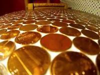 Jak zrobić stół pokryty monetami.