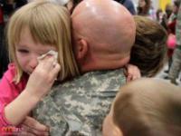 Żołnierze wracający do domu