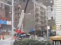 Wypadek przy wyburzaniu budynku