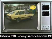 Historia PRL - ceny samochodów 1989