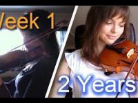 Nagrywała przez 2 lata swoje postępy w nauce gry na szkrzypcach
