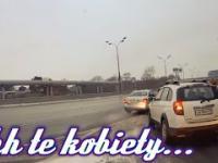 Uciekające Auto na autostradzie Ehh te kobiety...
