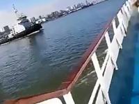Zderzenie holownika i statku z dziećmi na pokładzie