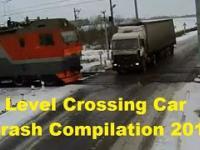 Kompilacja wypadków na przejeździe kolejowym