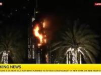 Pożar w Dubaju obok najwyższego budynku świata
