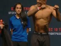 Reakcja kobiety na rozbierających się do ważenia zawodników UFC