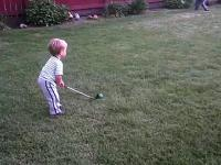 Młody golfista