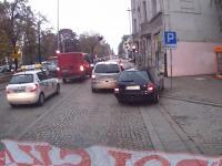 Niecierpliwy kierowca Audi w Łodzi