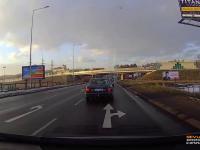 Mały karambol spowodowany przez Słowacki radiowóz