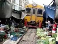 Pociąg na targu