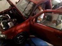 Niespodzianka podczas testu silnika