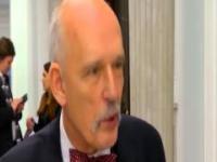 Janusz Korwin-Mikke używa wulgaryzmu w czasie wywiadu