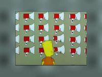 Bart testuje megafon