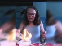 Dziewczyna chciała zaprezentować magiczną sztuczkę