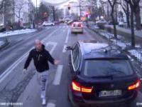 Agresywny dresiarz z BMW na drodze