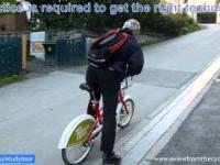 Wycjąg dla rowerów w Trondheim Norwegia