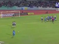 Niesamowicie podkręcony gol w lidze malezyjskiej