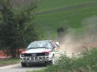 Audi Quattro - bokiem do przodu
